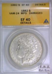 Click now to see the BUY IT NOW Price! 1882 MORGAN DOLLAR ANACS EF 40 DETAILS; VAM 24 MPD; E.D.S. EXTRA