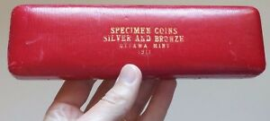 Click now to see the BUY IT NOW Price! 1911 CANADA SPECIMEN SET SILVER AND BRONZE ORIGINAL RCM EMPTY CASE