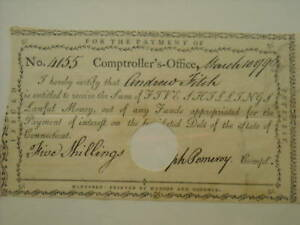 Click now to see the BUY IT NOW Price! 1790 REVOLUTIONARY WAR NOTE PAYABLE TO ANDREW FITCH