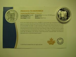 Click now to see the BUY IT NOW Price! 2014 PROOF $5 PRINCESS TO MONARCH CANADA COIN&COA  FROM SET  ONLY .9999 SILVER F