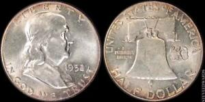 1952 FRANKLIN HALF DOLLAR    CHOICE BU