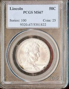 Click now to see the BUY IT NOW Price! 1918 50C LINCOLN SILVER COMMEMORATIVE PCGS MS67