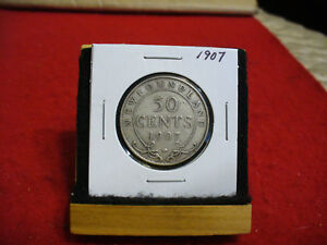 Click now to see the BUY IT NOW Price! 1907  CANADA  SILVER  HALF  DOLLAR  50 CENT PIECE   07  NEWFOUNDLAND  STERLING