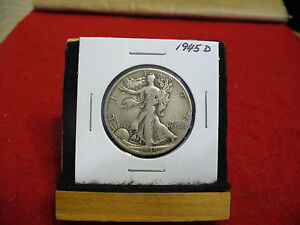 Click now to see the BUY IT NOW Price! 1945 D  WALKER  LIBERTY WALKING  HALF  DOLLAR      50 CENT PIECE   COIN  45D