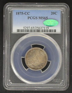 Click now to see the BUY IT NOW Price! 1875 CC TWENTY CENT PIECE PCGS MS 65 CAC  144230