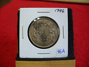 Click now to see the BUY IT NOW Price! 1946  CANADA  SILVER  HALF  DOLLAR  50 CENT PIECE   46A    GOOD GRADE