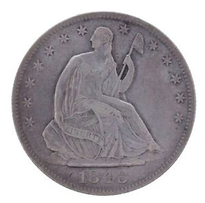 1848 O SEATED LIBERTY HALF DOLLAR EXTRA FINE XF NEW ORLEANS US COIN  MAKE OFFER