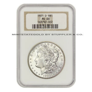 Click now to see the BUY IT NOW Price! FINEST IN EXISTENCE 1921 D MORGAN NGC MS68 GEM GRADED SILVER DOLLAR $1  COIN