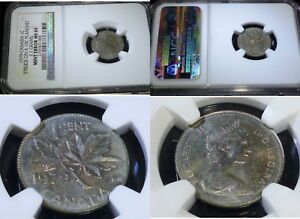 Click now to see the BUY IT NOW Price! MINT ERROR    1979 CANADA STRUCK ON A 10C PLANCHET  1C NGC GRADE MS 64