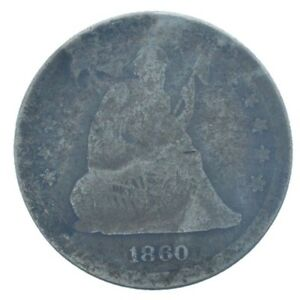 1860 SEATED LIBERTY QUARTER SEE HD PHOTOS MAKE AN OFFER