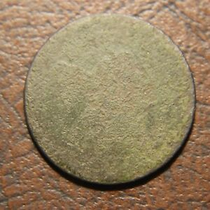 1795 CAPPED LIBERTY HALF CENT NO POLE THIN PLANCHET C 6A