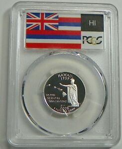 2008 S HAWAII SILVER PROOF STATE QUARTER PCGS PR69DCAM STATE FLAG