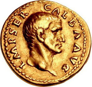 Click now to see the BUY IT NOW Price! GALBA 69AD AUTHENTIC ANCIENT ROMAN GOLD AUREUS EX MAZZINI COLLECTION
