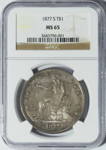 Click now to see the BUY IT NOW Price! 1877 S TRADE DOLLAR NGC MS65
