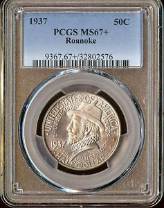 Click now to see the BUY IT NOW Price! 1937 50C ROANOKE SILVER COMMEMORATIVE PCGS MS67