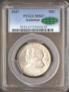 Click now to see the BUY IT NOW Price! 1937 50C ANTIETAM SILVER COMMEMORATIVE PCGS MS67 CAC