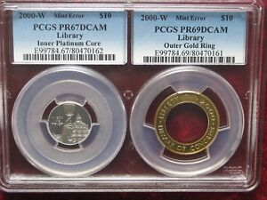 Click now to see the BUY IT NOW Price! ERROR   2000  BI METALIC  $ 10  LIBRARY  OF  CONGRES    GOLD   PLATINUM  ERROR