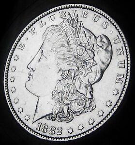 1882 MORGAN SILVER DOLLAR   ALMOST UNCIRCULATED   FAST COIN SHIPPING