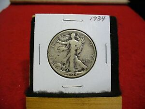 1934  WALKER  LIBERTY WALKING  HALF  DOLLAR      50 CENT PIECE   COIN  34