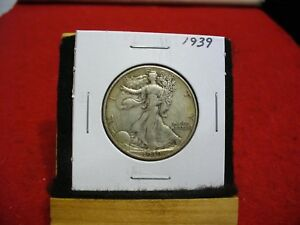 1939  WALKER  LIBERTY WALKING  HALF  DOLLAR      50  CENT PIECE   COIN  39
