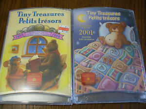 Click now to see the BUY IT NOW Price! LOT OF 2 SETS 2000 2001  TINY TREASURES COIN SETS  SEALED HIGH GRADE