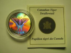 Click now to see the BUY IT NOW Price! 2004 PROOF 50 CENTS BUTTERFLY 1 TIGER SWALLOWTAIL CANADA COIN&COA ONLY FIFTY SI