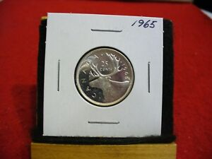 Click now to see the BUY IT NOW Price! 1965 CANADA   SILVER   QUARTER  DOLLAR  25 CENTS   NICE GRADE    65