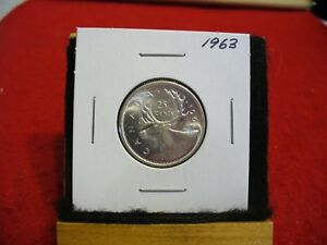 Click now to see the BUY IT NOW Price! 1963 CANADA   SILVER   QUARTER  DOLLAR  25 CENTS   NICE GRADE    63