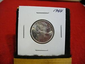 Click now to see the BUY IT NOW Price! 1964 CANADA   SILVER   QUARTER  DOLLAR  25 CENTS   NICE GRADE    64