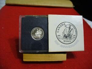 Click now to see the BUY IT NOW Price! 1997  CANADA  SILVER  DIME  10 CENTS  PIECE   COIN   HIGH GRADE  JOHN CABOT SHIP