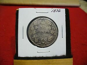 Click now to see the BUY IT NOW Price! 1872 H  CANADA  SILVER HALF DOLLAR  COIN   GOOD GRADE  SEE PHOTOS  RIM BUMP