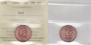 Click now to see the BUY IT NOW Price! 1984 ICCS MS65 1 CENT RED CANADA ONE PENNY