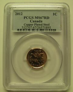 Click now to see the BUY IT NOW Price! 2012 PCGS MS67 1 CENT RD COPPER PLATED STEEL  RED MAGNETIC  CANADA ONE PENNY