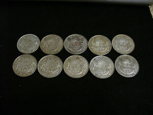 Click now to see the BUY IT NOW Price! LOT OF 10 1947  CANADA HALF DOLLAR SILVER COINS 50 CENT PIECES   NICE GRADES