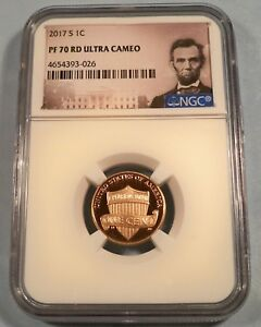 2017 S 1C NGC PF70RD UCAM PROOF LINCOLN CENT ULTRA CAMEO PR 70