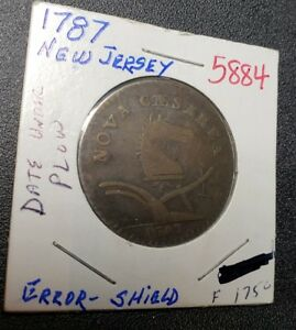 1787 NEW JERSEY COPPER COLONIAL CENT
