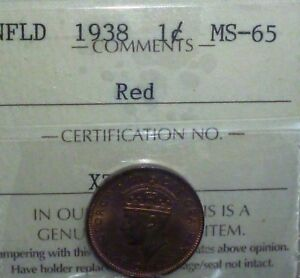 Click now to see the BUY IT NOW Price! 1938 CANADA NEWFOUNDLAND SMALL CENT KM 18 UNCIRCULATED  ICCS GRADED 65 RED