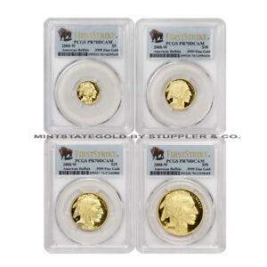 Click now to see the BUY IT NOW Price! SET OF 4 2008 W GOLD BUFFALO PROOFS PCGS PR70DCAM FIRST STRIKE COINS BISON LABEL
