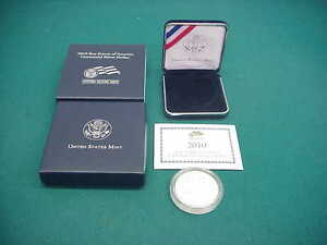 BOY SCOUTS OF AMERICA  CENTENNIAL PROOF SILVER ONE DOLLAR 2010 COIN