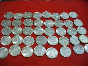 Click now to see the BUY IT NOW Price! BIG  LOT OF 40 PRE   1967  CANADA   SILVER COINS  QUARTER DOLLARS  25 CENTS