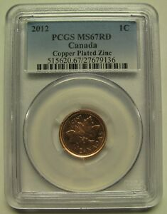 Click now to see the BUY IT NOW Price! 2012 PCGS MS67 1 CENT RD COPPER PLATED ZINC  RED NON MAGNETIC  CANADA ONE PENNY