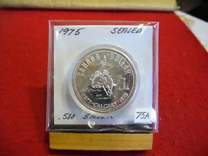 Click now to see the BUY IT NOW Price! 1975   CANADA  SILVER   ONE  DOLLAR  COIN   1$   HIGH  GRADE   75A   SEALED