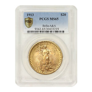 Click now to see the BUY IT NOW Price! 1913 $20 GOLD SAINT GAUDENS PCGS MS65 BELLA A&A