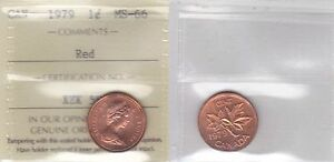 Click now to see the BUY IT NOW Price! 1979 ICCS MS66 1 CENT RED CANADA ONE PENNY