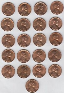 1959 1969S LINCOLN MEMORIAL PENNY 21 COIN LOT