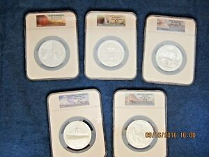 Click now to see the BUY IT NOW Price! 2010 P ATB 5 OZ SILVER SET AMERICA THE BEAUTIFUL NGC SP70 EARLY RELEASE NP LABEL
