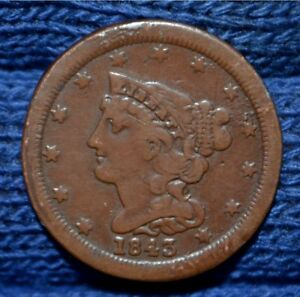 1843 HALF CENT        MUST SEE