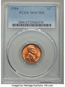 Click now to see the BUY IT NOW Price! 1964 P LINCOLN CENT PCGS MS 67 BEST OFFER TAKES IT  LAST COIN SOLD FOR OVER $5K