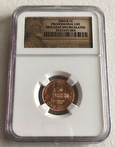 NGC 2009 1C PROFESSIONAL LIFE BRILLIANT UNCIRCULATED
