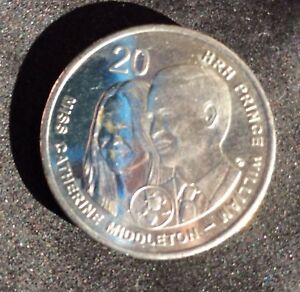 2011 WILLIAM & KATE AUSTRALIAN 20 CENT COIN   NICE COLLECTABLE COIN   EF